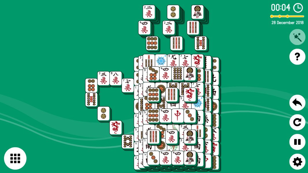 Level 2018-12-28. Online Mahjong Solitaire