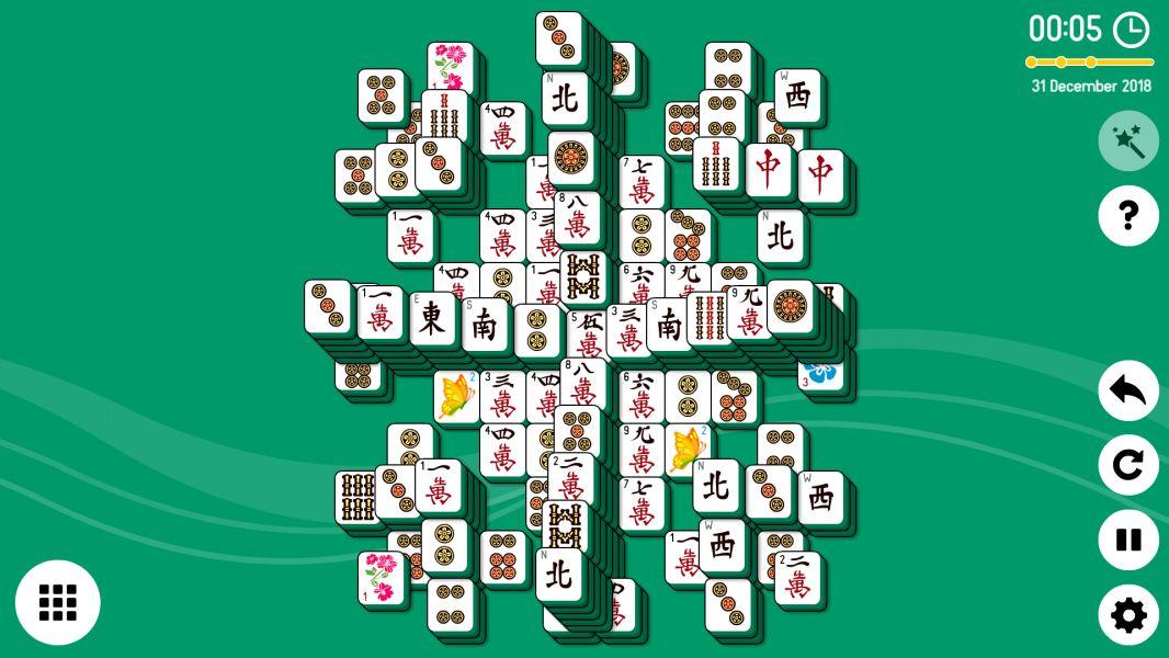 Level 2018-12-31. Online Mahjong Solitaire
