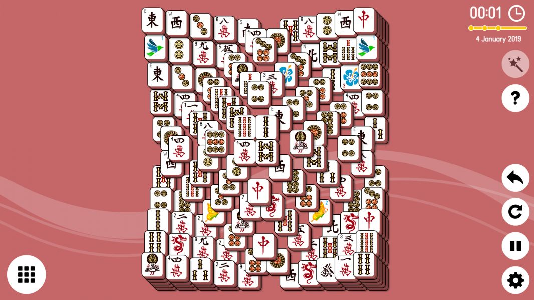 Level 2019-01-04. Online Mahjong Solitaire
