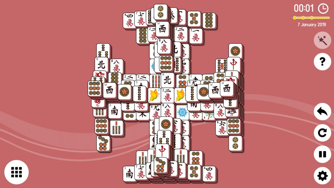 Level 2019-01-07. Online Mahjong Solitaire