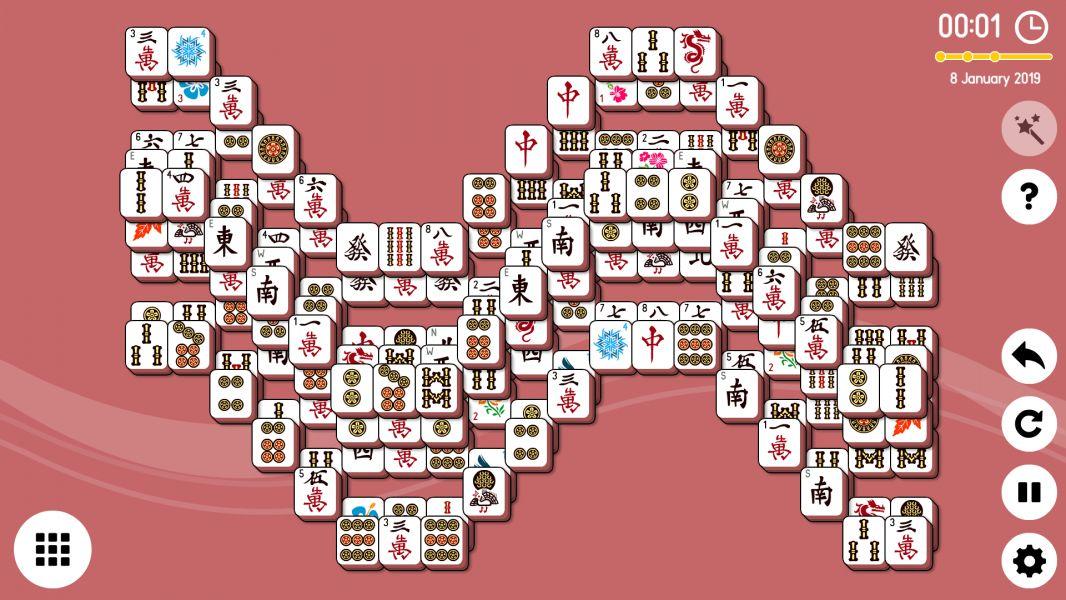 Level 2019-01-08. Online Mahjong Solitaire