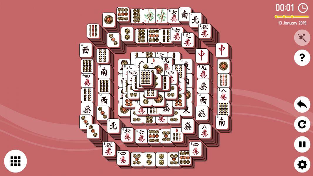 Level 2019-01-13. Online Mahjong Solitaire