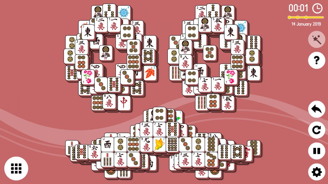 Level 2019-01-14  Free Online Mahjong Solitaire Game  Daily