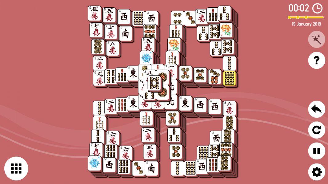Level 2019-01-15. Online Mahjong Solitaire
