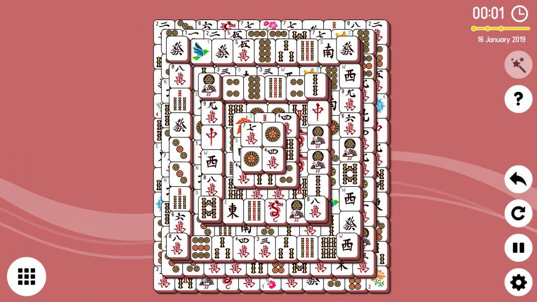 Level 2019-01-16. Online Mahjong Solitaire