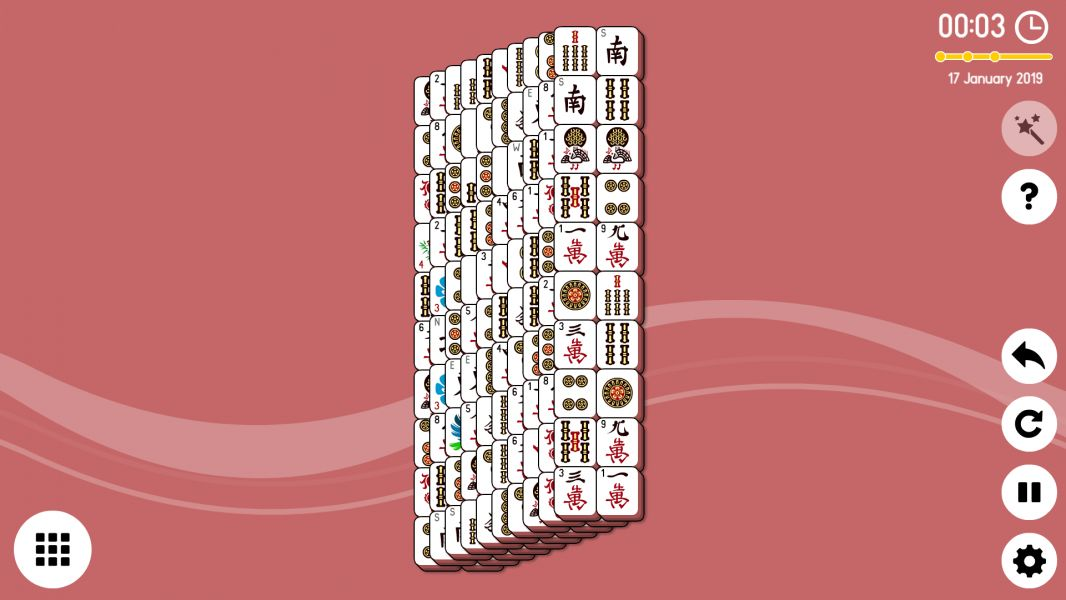Level 2019-01-17. Online Mahjong Solitaire