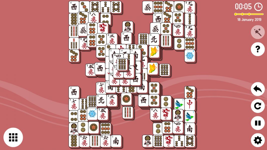 Level 2019-01-18. Online Mahjong Solitaire