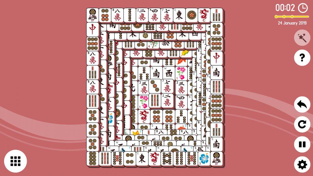 Level 2019-01-24. Online Mahjong Solitaire