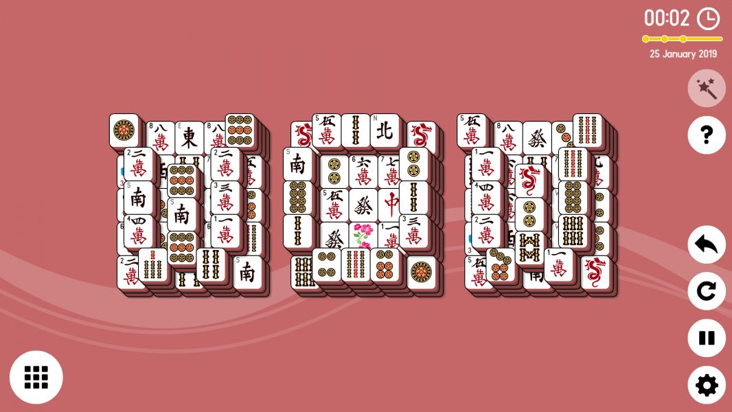 Level 2019-01-25. Online Mahjong Solitaire