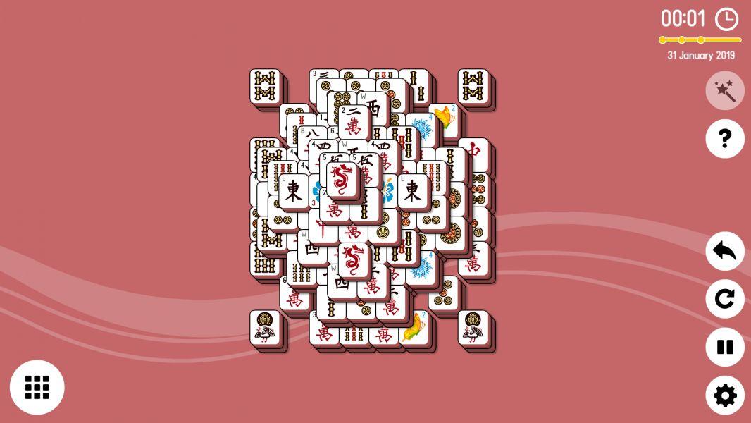 Level 2019-01-31. Online Mahjong Solitaire