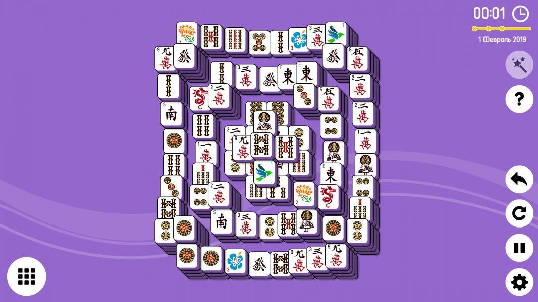 Level 2019-02-01. Online Mahjong Solitaire