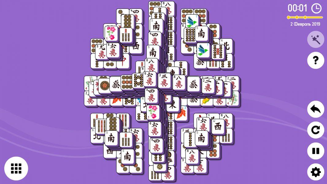 Level 2019-02-02. Online Mahjong Solitaire