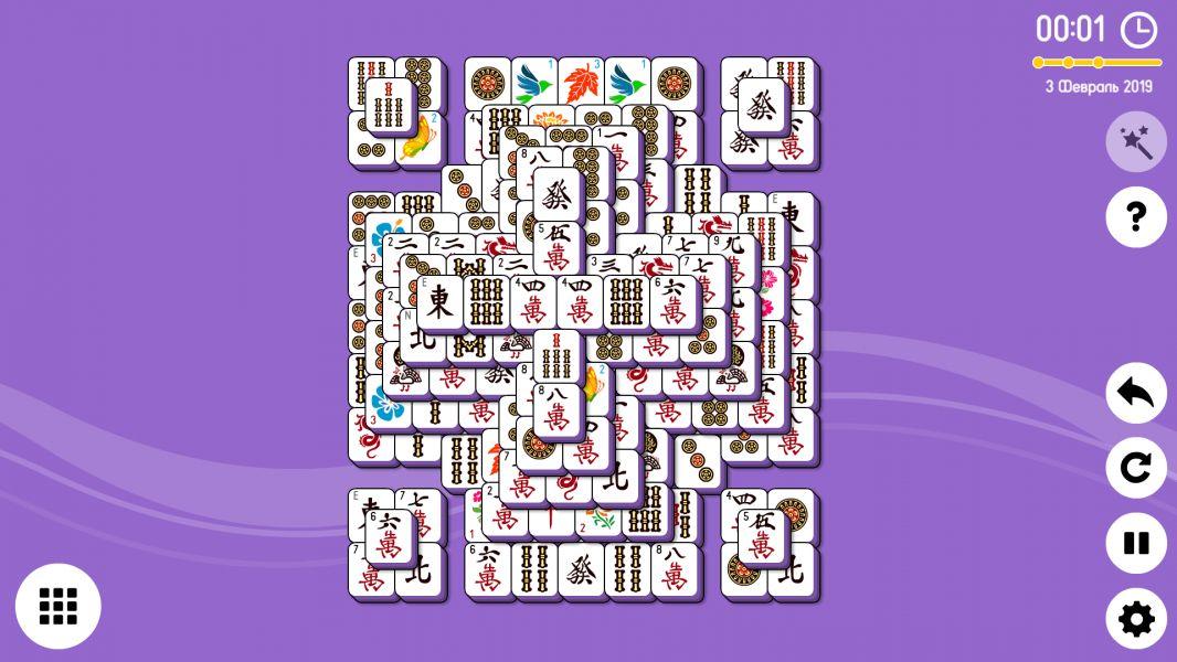 Level 2019-02-03. Online Mahjong Solitaire