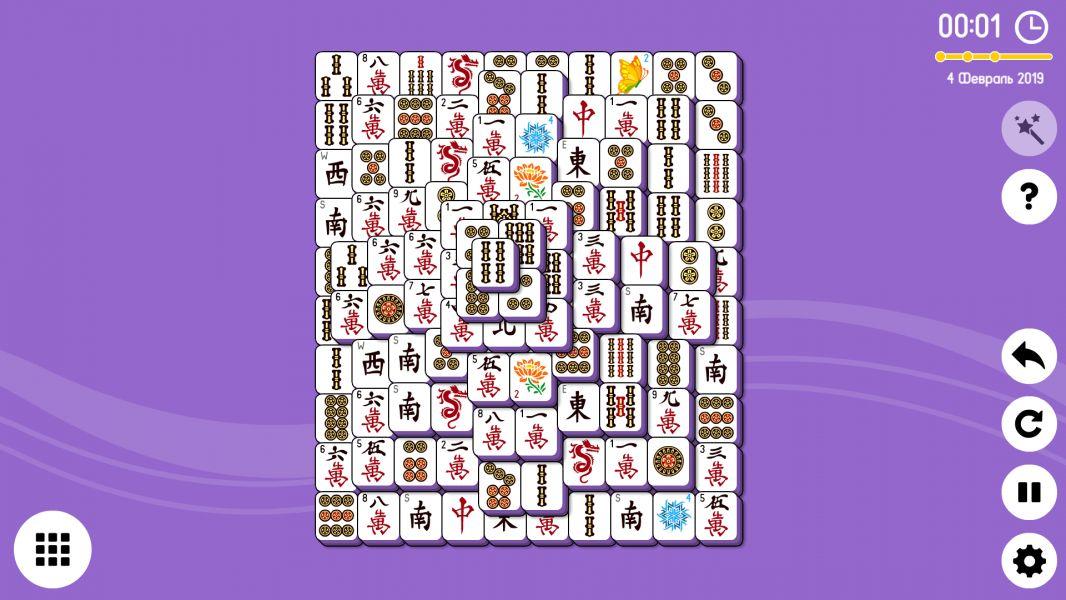 Level 2019-02-04. Online Mahjong Solitaire