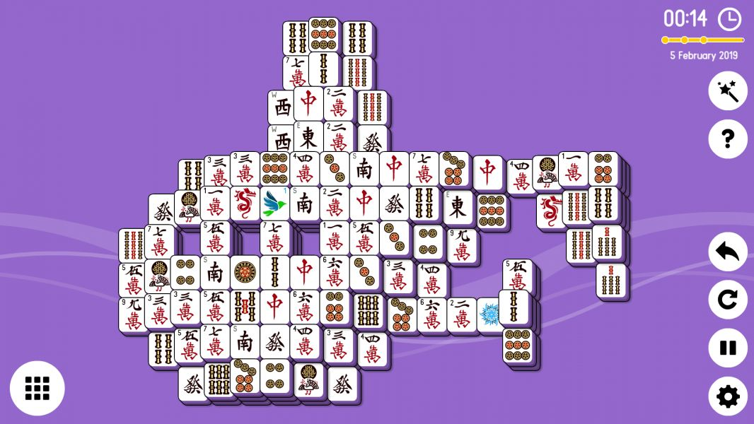 Level 2019-02-05. Online Mahjong Solitaire