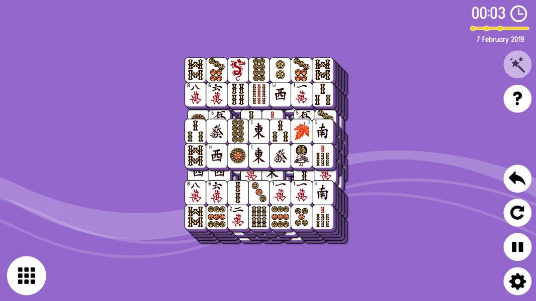 Level 2019-02-07. Online Mahjong Solitaire