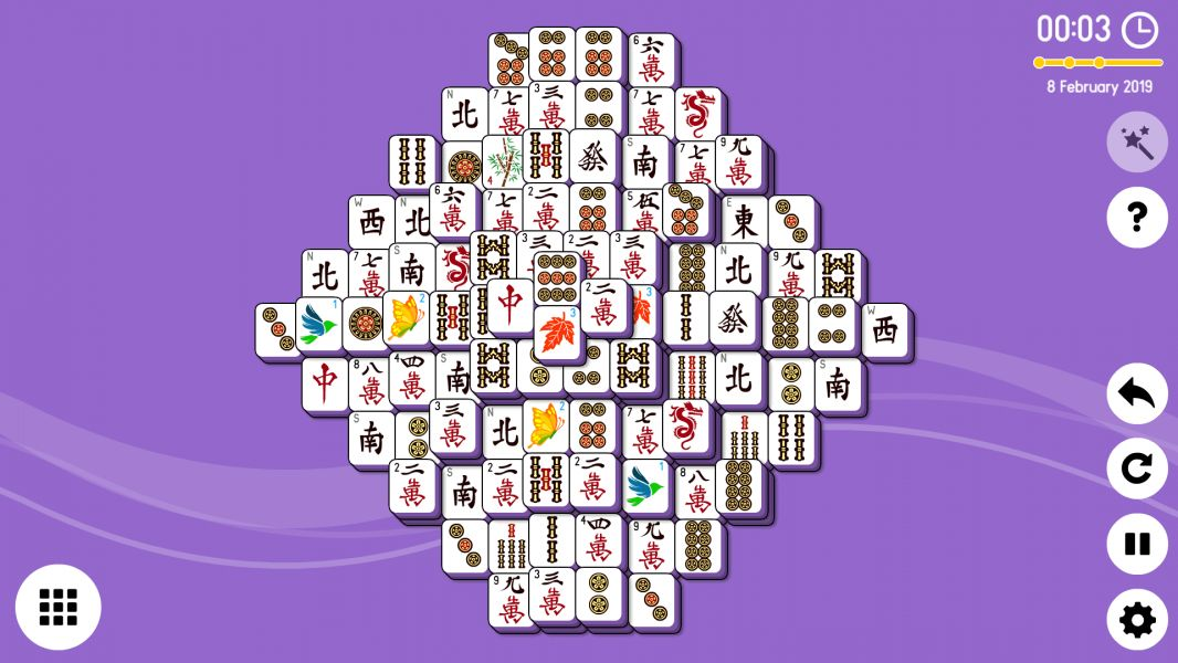 Level 2019-02-08. Online Mahjong Solitaire