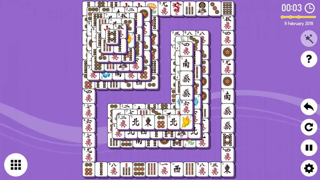 Level 2019-02-09. Online Mahjong Solitaire