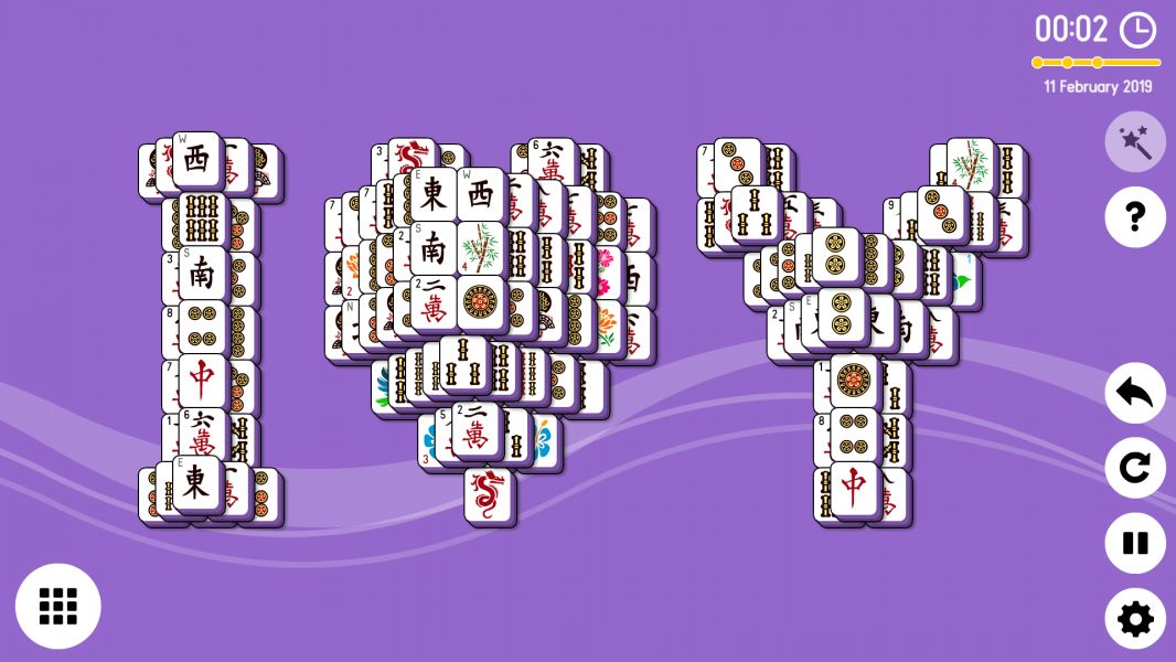 Level 2019-02-11. Online Mahjong Solitaire