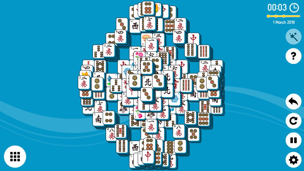 Level 2019-03-01. Online Mahjong Solitaire