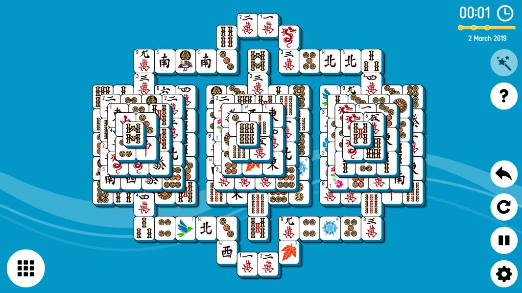 Level 2019-03-02. Online Mahjong Solitaire