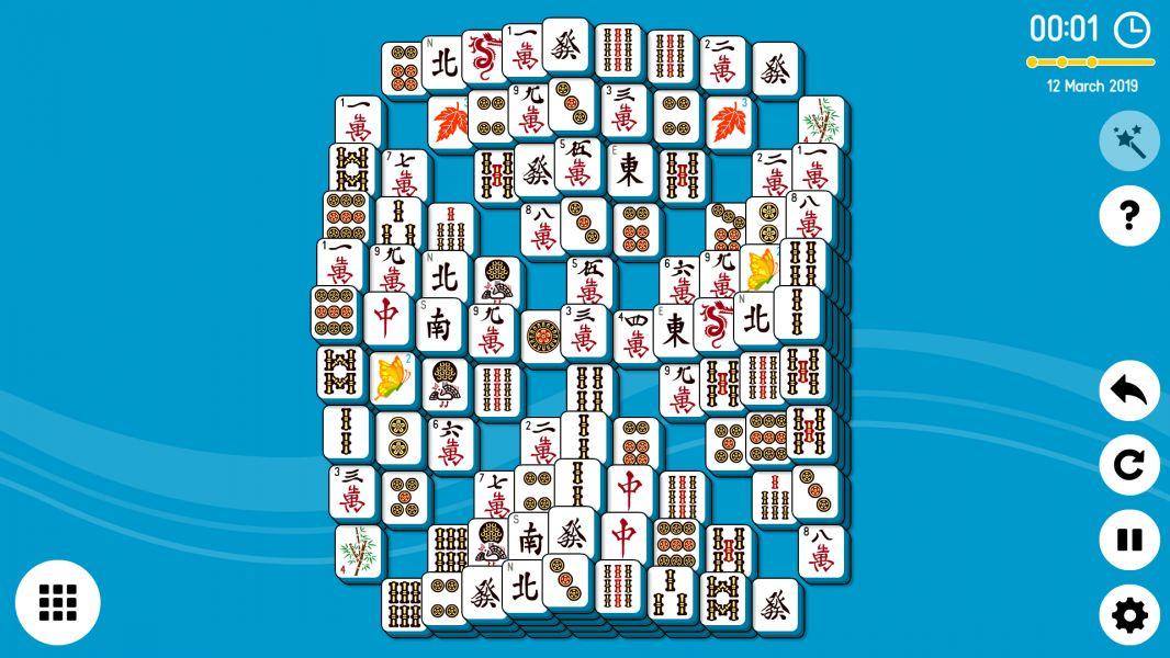 Level 2019-03-12. Online Mahjong Solitaire