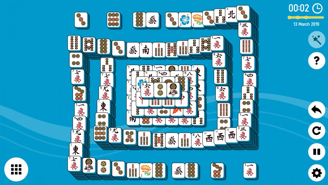 Level 2019-03-13. Online Mahjong Solitaire