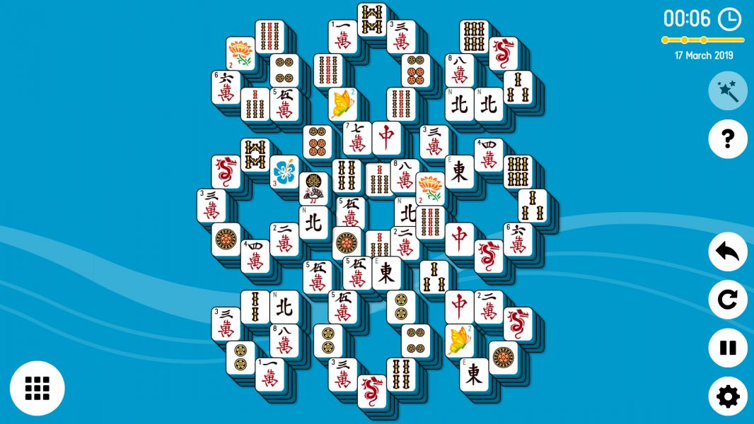 Level 2019-03-17. Online Mahjong Solitaire