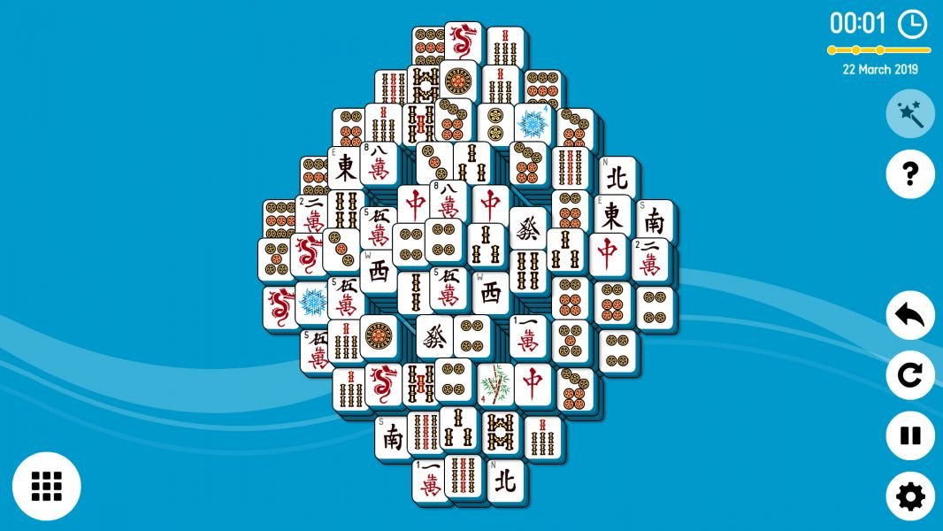 Level 2019-03-22. Online Mahjong Solitaire
