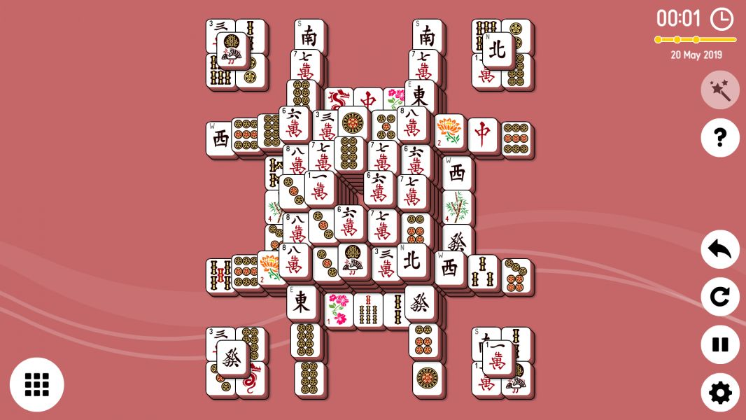 Level 2019-05-20. Online Mahjong Solitaire