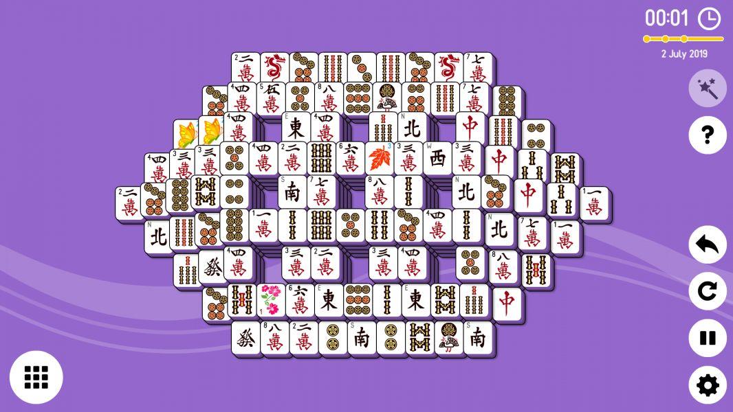 Level 2019-07-02. Online Mahjong Solitaire
