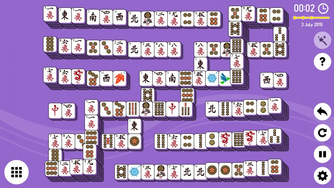 Level 2019-07-03. Online Mahjong Solitaire