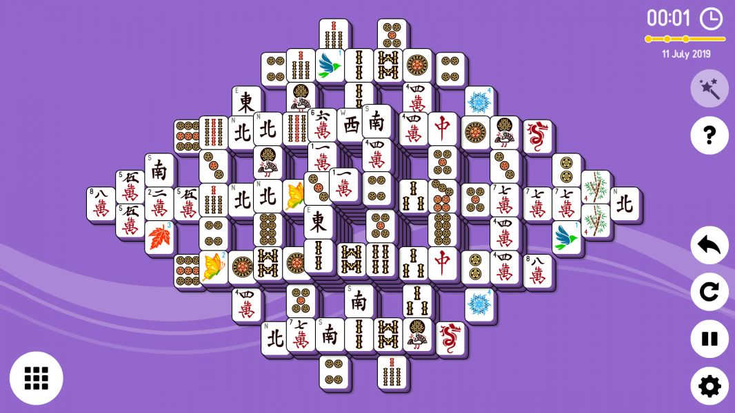 Level 2019-07-11. Online Mahjong Solitaire