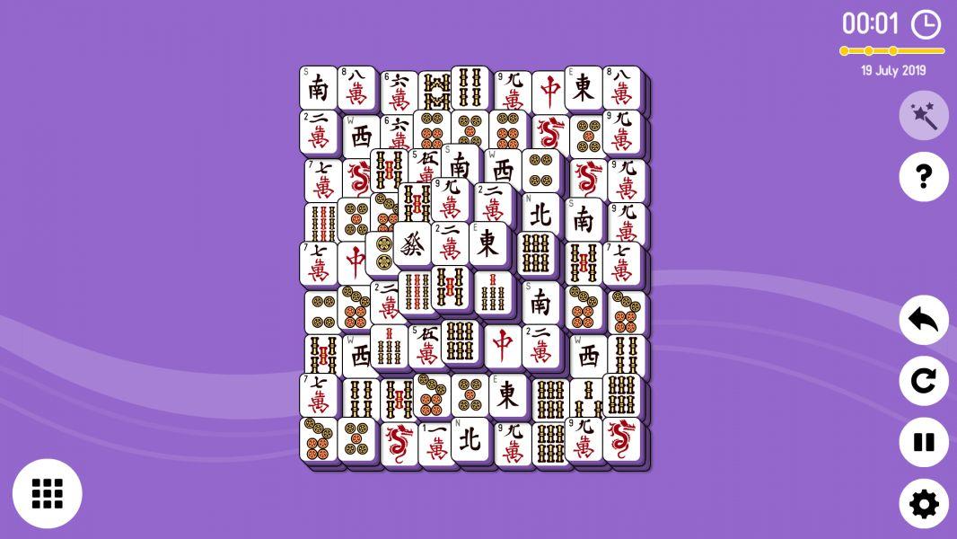 Level 2019-07-19. Online Mahjong Solitaire