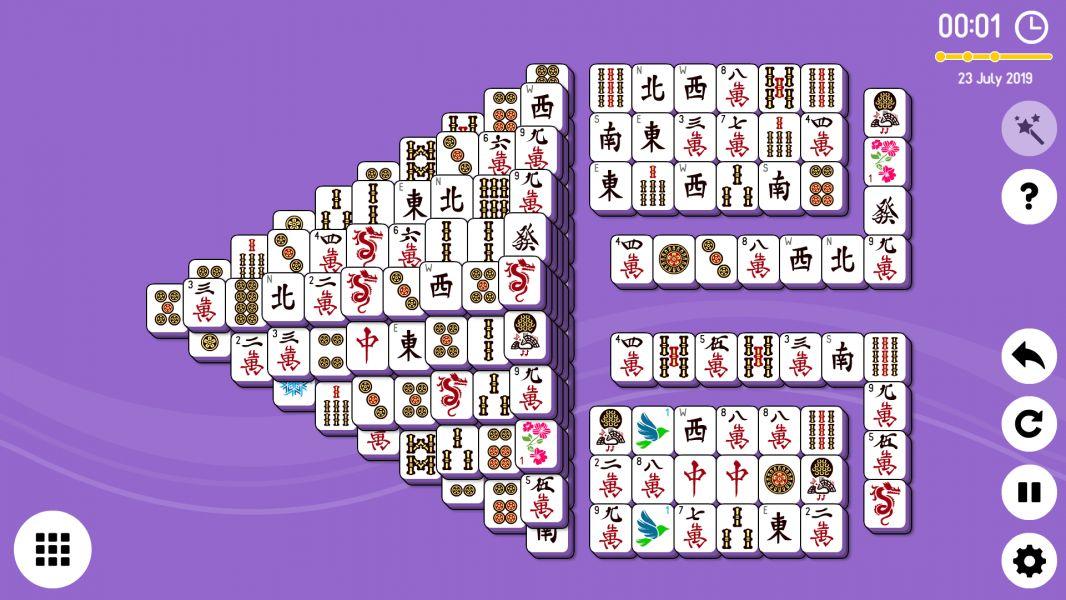 Level 2019-07-23. Online Mahjong Solitaire